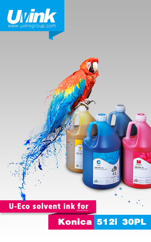 U-Eco solvent ink for Konica 512i 30PL